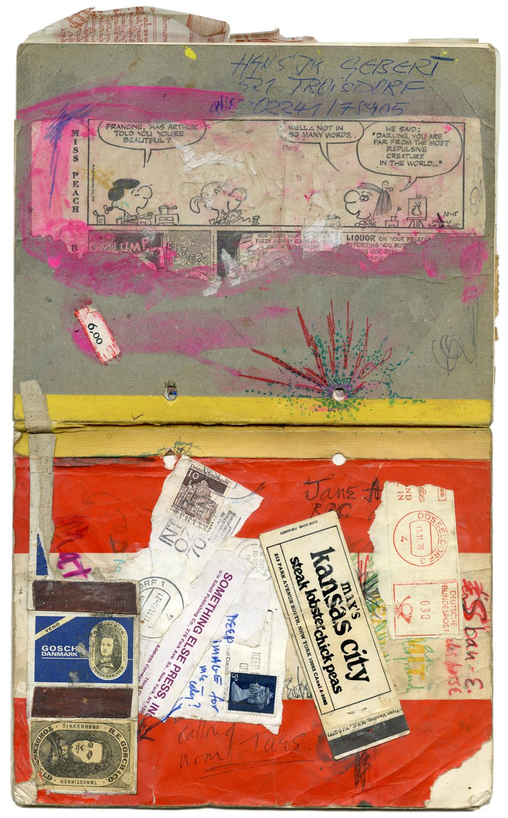 Carolee Schneemann, Köln notebook, 1970