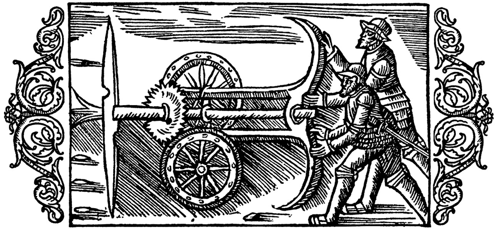 Revolving Blades and Wheels from Olavs Magnus, History of the Northern Peoples, 1555