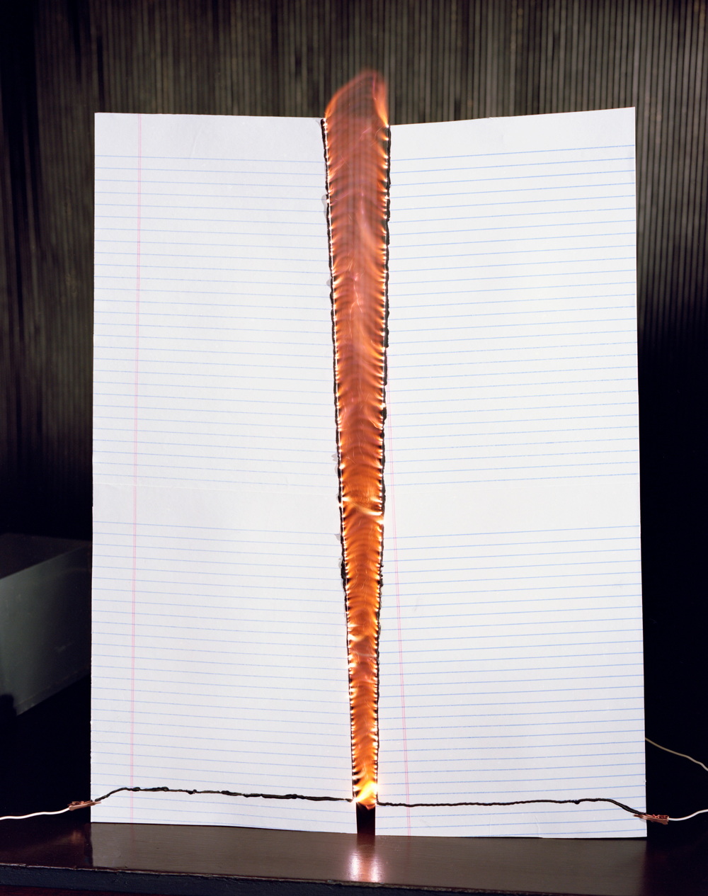 David Goldes, Jacob's Ladder on Lined Paper, 2013,